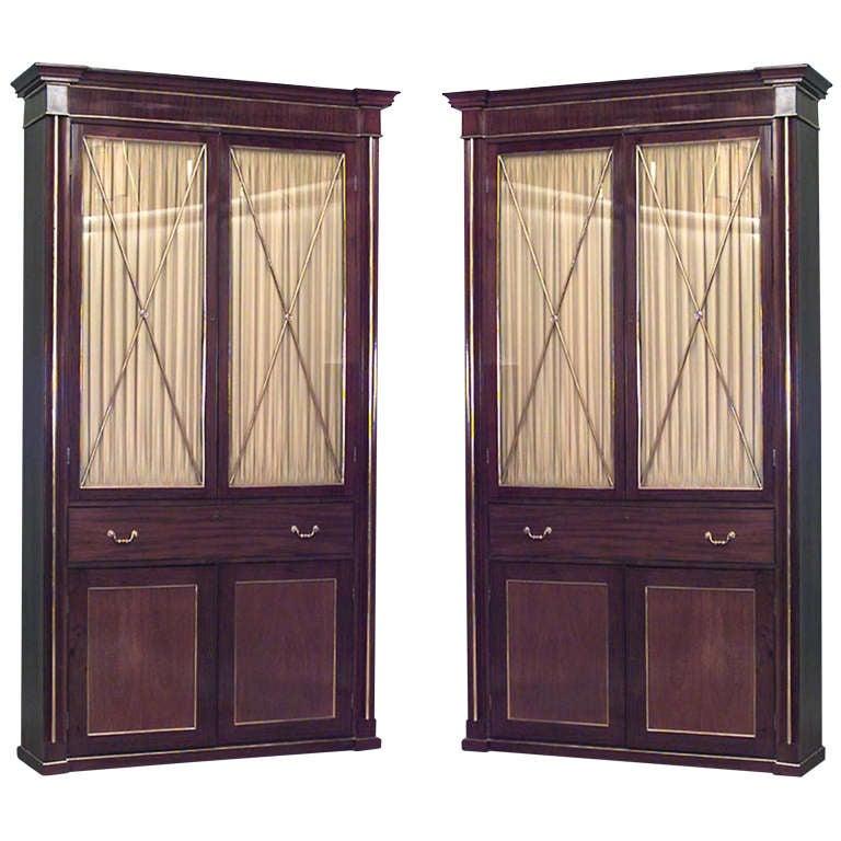 Early 19th Century Russian Mahogany Bookcase Cabinets
