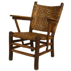 Rustic Old Hickory Arm Chair