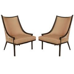 Pair of American Mid Century Ebonized Chairs