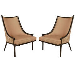 Pair of American Mid Century Ebonized Chairs