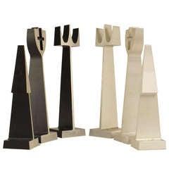 Mid-Century Modern Extruded Aluminum Chess Set by Alcoa
