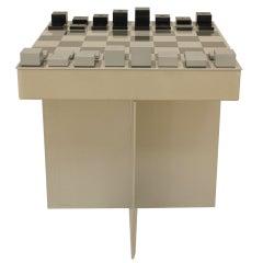 Contemporary Powder Coated Aluminum Table Chess Set