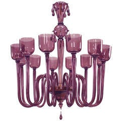 Amethyst Murano Glass Chandelier