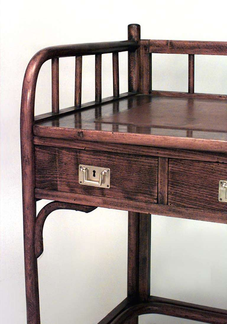 Turn of the century furniture - Turn Of The Century Secessionist Bentwood Desk Attributed To Josef Hoffmann 3