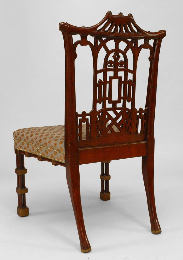 Set of twelve 19th century chinese chippendale style for Chinese style furniture for sale