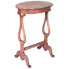 Mid-19th Century Northern European Biedermeier Side Table