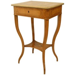 French Charles X Inlaid Maple End Table