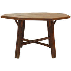 American Rustic Oak Dining Table by Old Hickory Co.