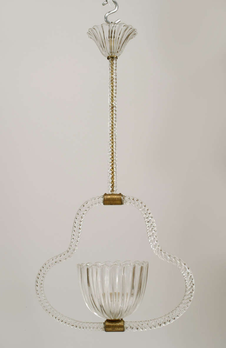 Murano glass lantern attributed to barovier and toso for for Barovier e toso