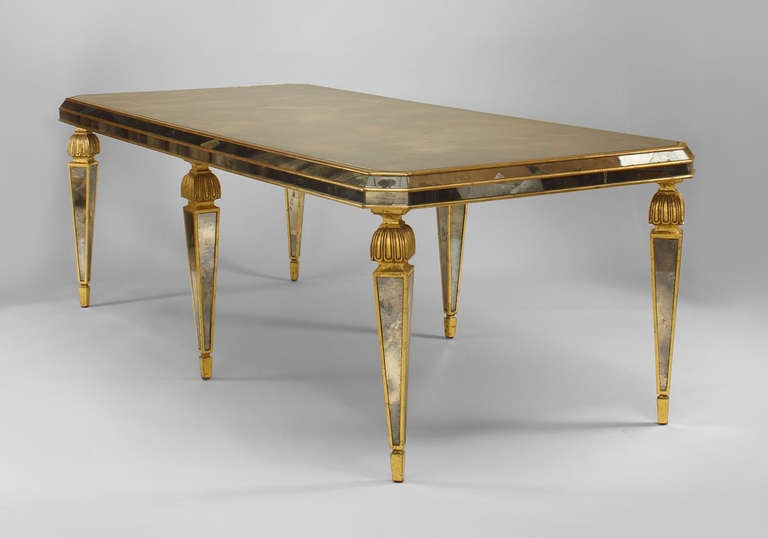 Opulent Italian Mirror And Gilt Wood Dining Table At 1stdibs