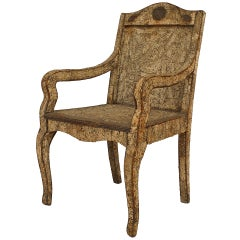Neoclassic Cork & Twig Arm Chair