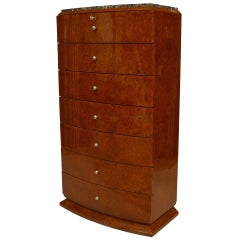 Maison Krieger French Art Deco Amboyna Cabinet Semaniere