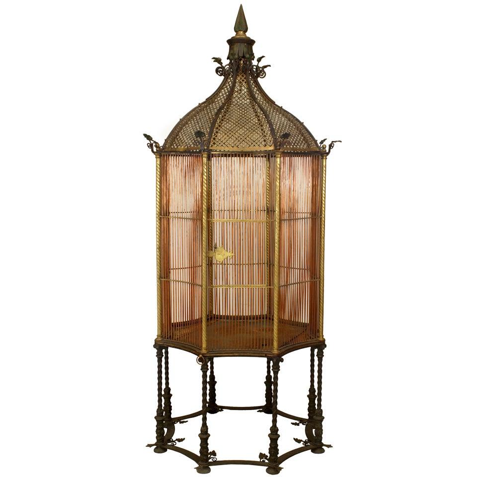 English Victorian Monumental Bird Cage