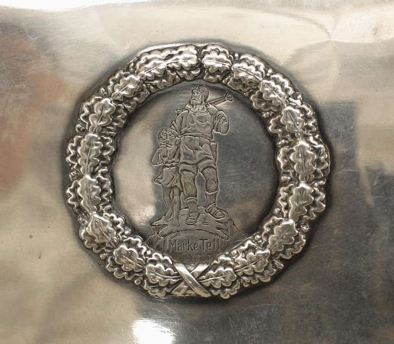 Sterling Silver Turn of the Century German Sterling Box with Neoclassical Reliefs For Sale