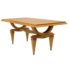 1940's French Ormolu Mounted Dining Table, Attributed to Andre Arbus