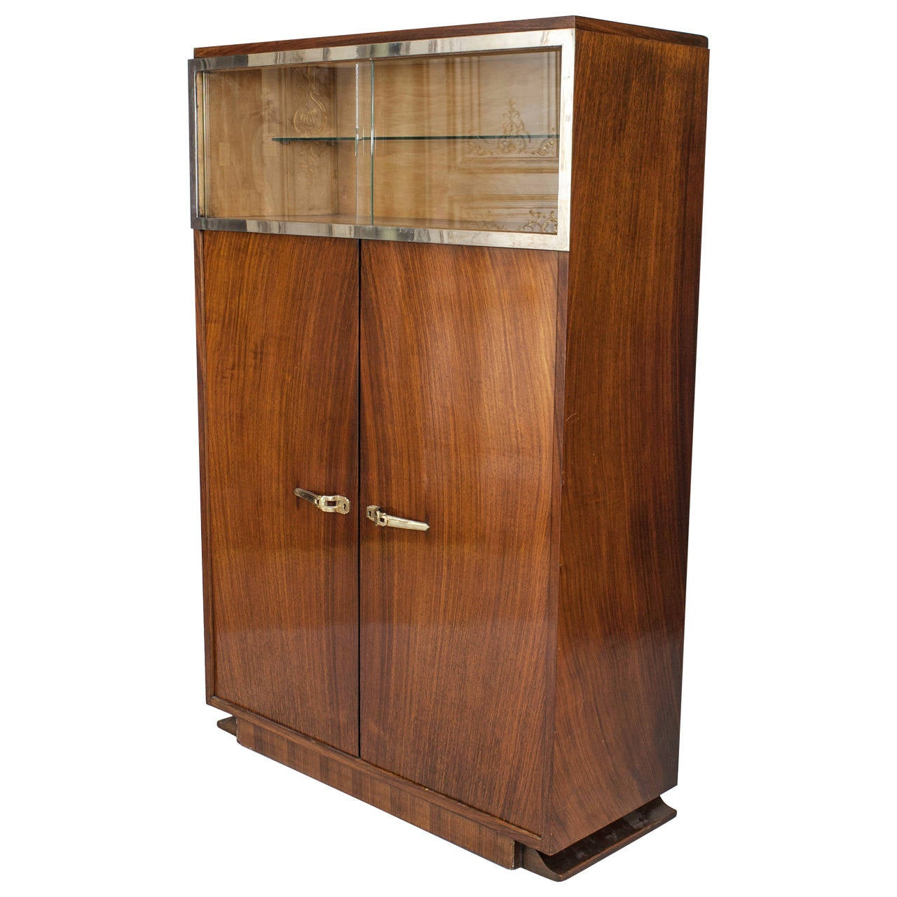 French Art Deco Rosewood Vitrine or Bar by Dominique Paris