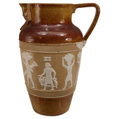 1920s English Egyptian Revival Pitcher by Doulton