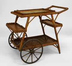 Early 20th c. American Wicker Tea Cart