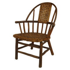 Old Hickory Branded Rustic Woven Armchair