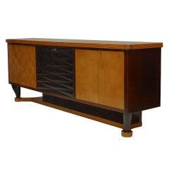 1940's Vittorio Dassi Maple And Ebonized Wood Sideboard
