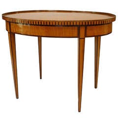 Early 19th c. Dutch Oval Satinwood Center Table