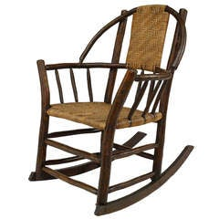 Old Hickory Rustic Rocking Armchair