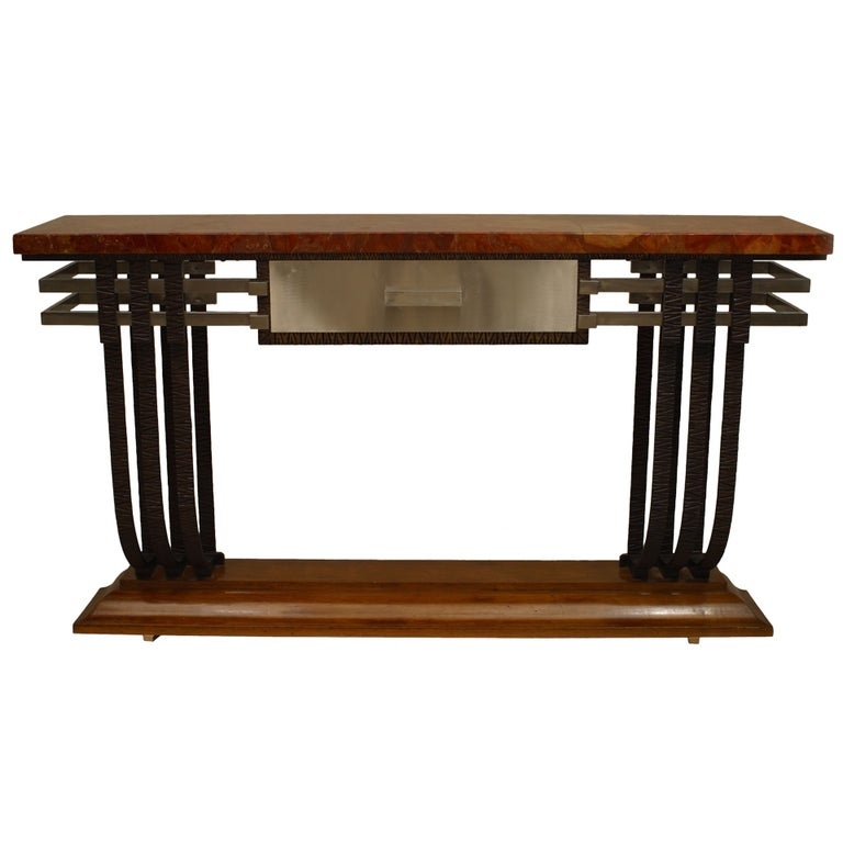 French Art Deco Console With Drawer For Sale