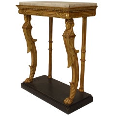 Swedish Empire Console Table With Egyptian Detail