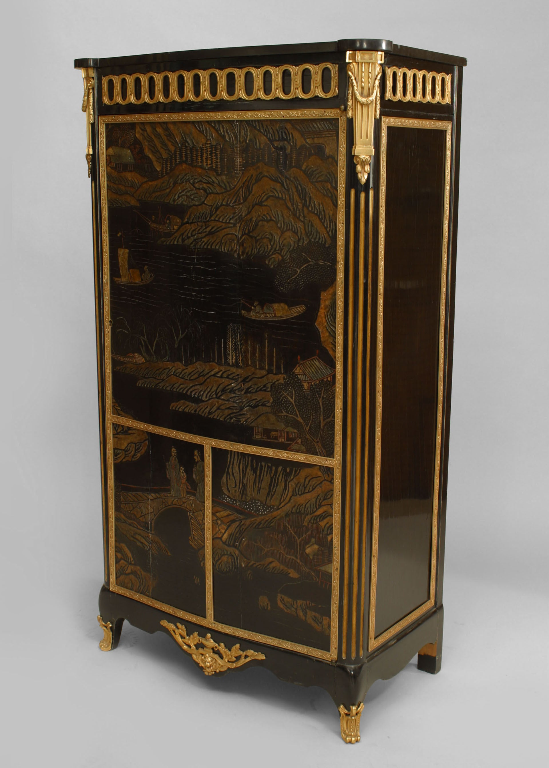 Louis XVI Style  Chinoiserie Cabinet