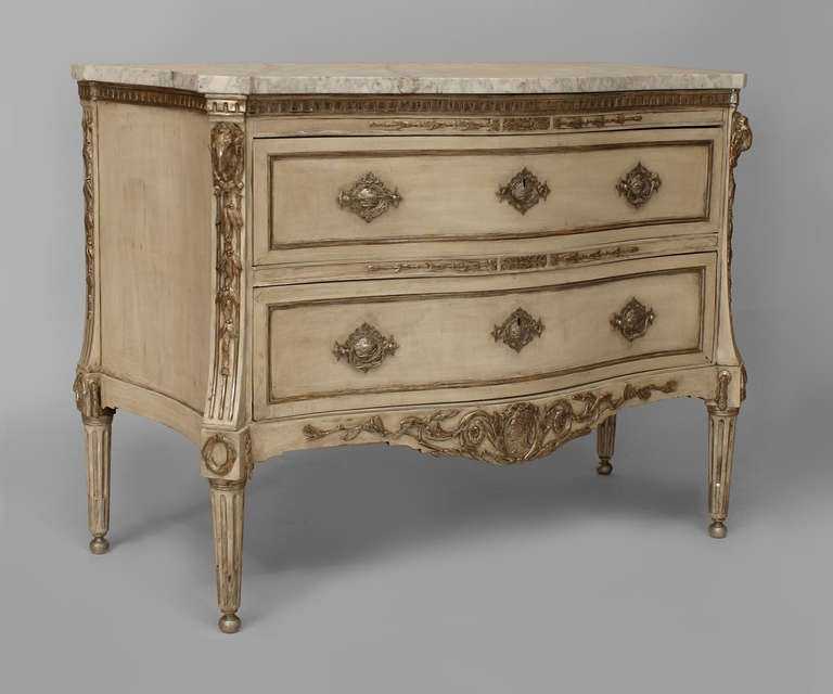latest painted commode with silver gilt molding with. Black Bedroom Furniture Sets. Home Design Ideas
