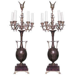 Pair of French Candelabra by H. Cahieux & F. Barbedienne, 1880