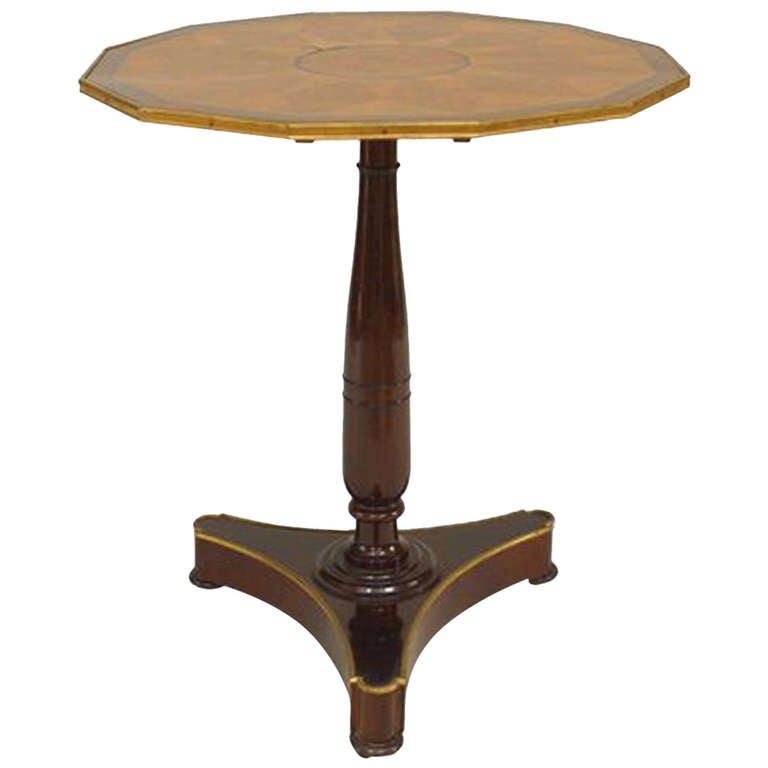 19th c. Neoclassical Parquetry Tilt-Top Table