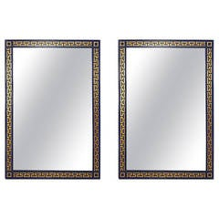 Lacquered Greek Key Wall Mirrors
