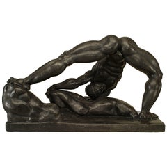 Hungarian Art Deco Classicizing Male Nude Figure by Henry Schoenbauer