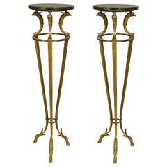 Pair of 1970s French Empire Style Pedestals, by Maison Jansen