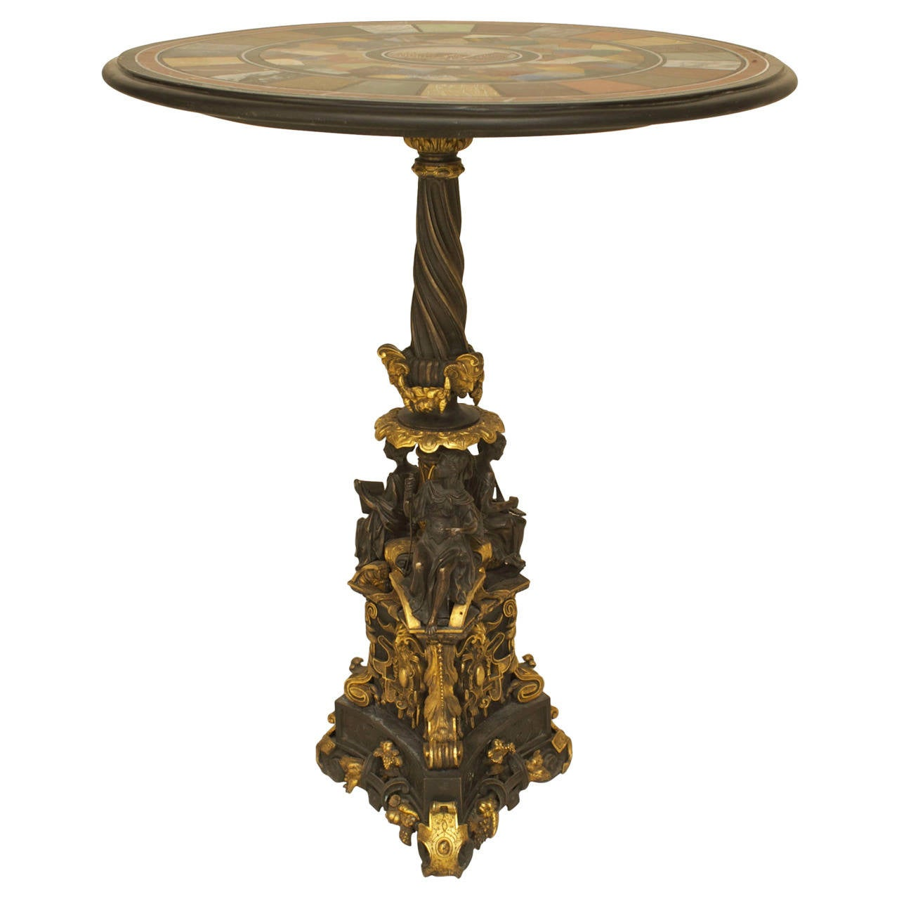 Important Italian Neoclassical Micromosaic-Top Table on an Ormolu Base