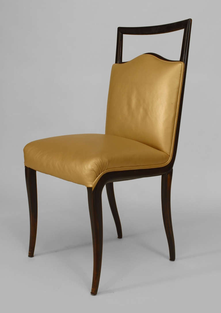 Set of six 1950 39 s italian side chairs by vittorio dassi for Side chairs for sale