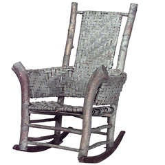 Fontaine Adirondack Woven Birch Rocking Chair