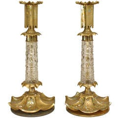 Pair Of 19th c. Neoclassic Candlesticks