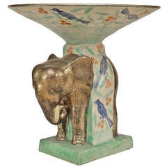 French 1940's Elephant Centerpiece, By Cazaux