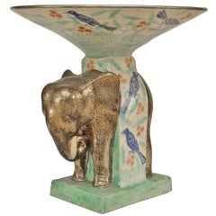 French Mid-Century Elephant Figural Centerpiece