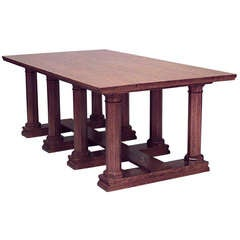 William Lethaby English Aesthetic Movement Oak Refectory Table