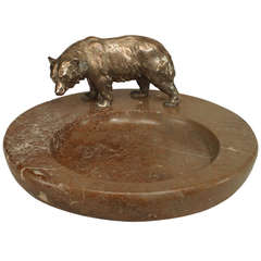 Turn of the Century Continental Bear Ashtray