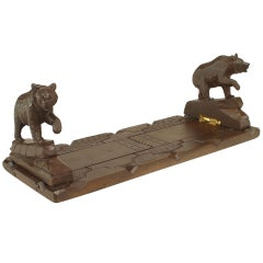 Late 19th c. Black Forest Style Adjustable Bear Bookends