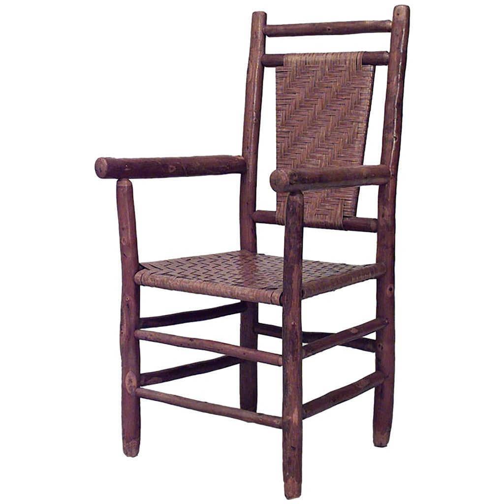 Exceptionnel American Rustic Armchair By Columbus Hickory Furniture Co. For Sale