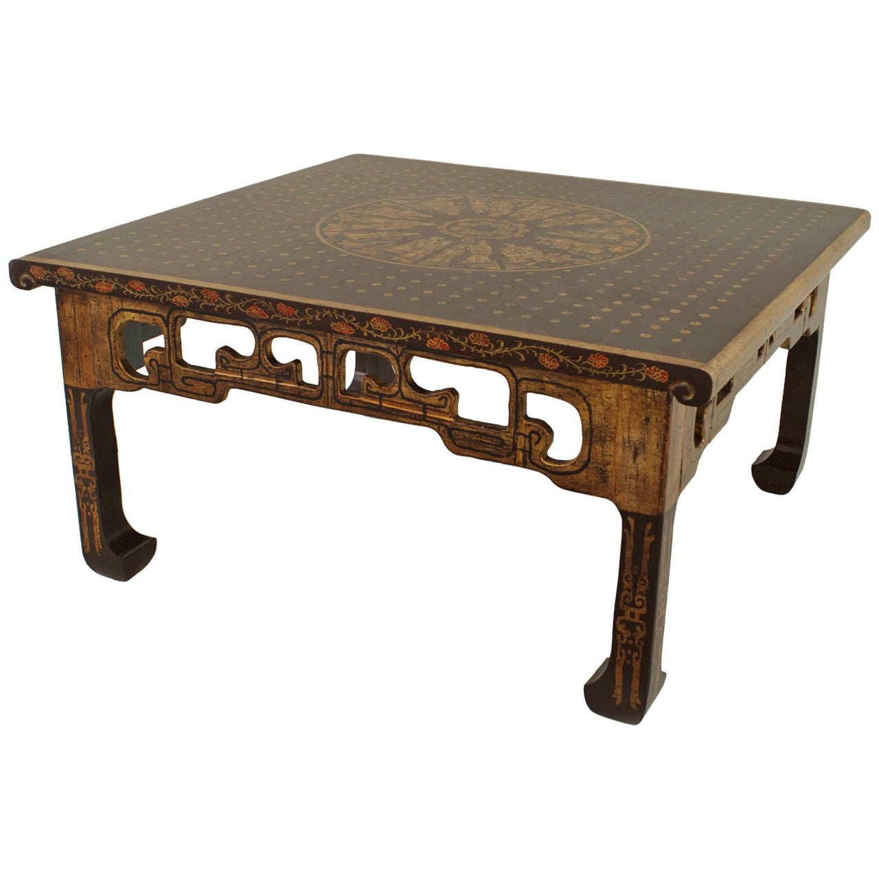 Chinese Parcel Gilt Coffee Table