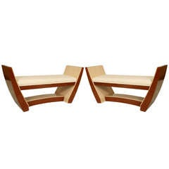 Modern French Art Deco Style Benches