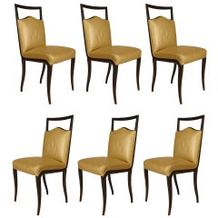 Set of Six 1950's Italian Side Chairs, by Vittorio Dassi