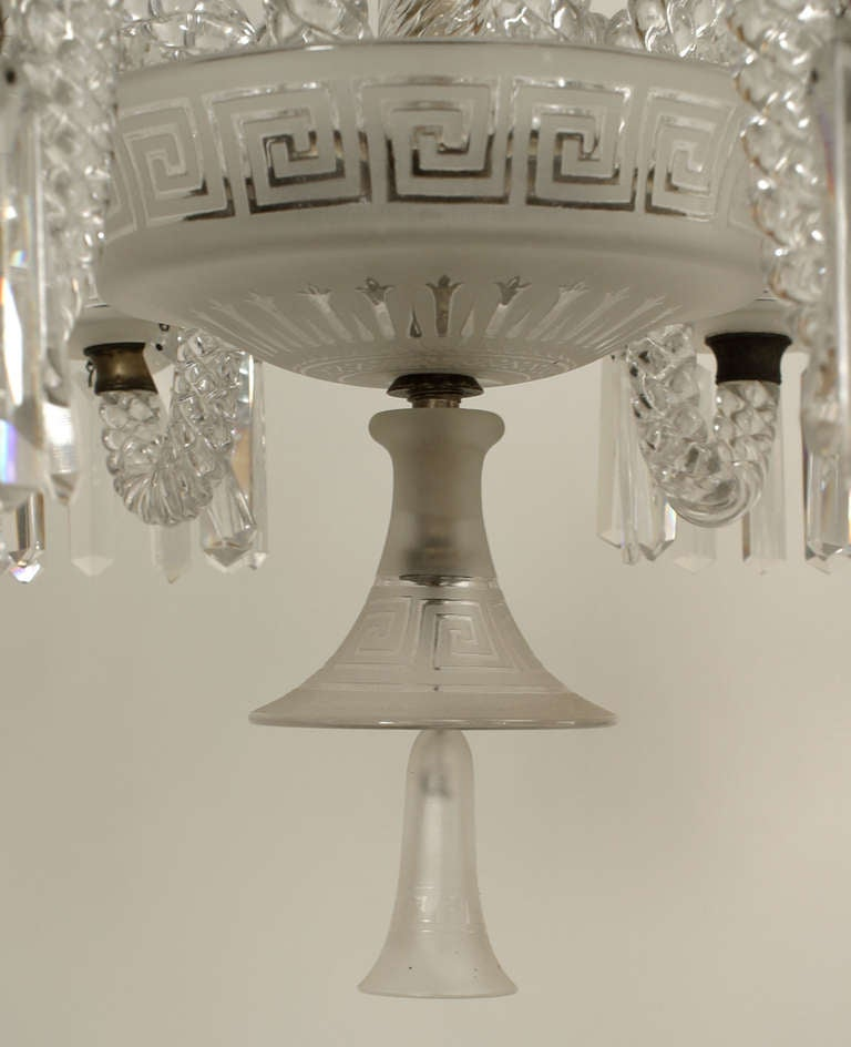 19th C Baccarat 6 Arm Crystal Drop Chandelier At 1stdibs