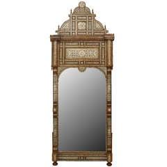 19th c. Syrian Inlaid Wall Mirror